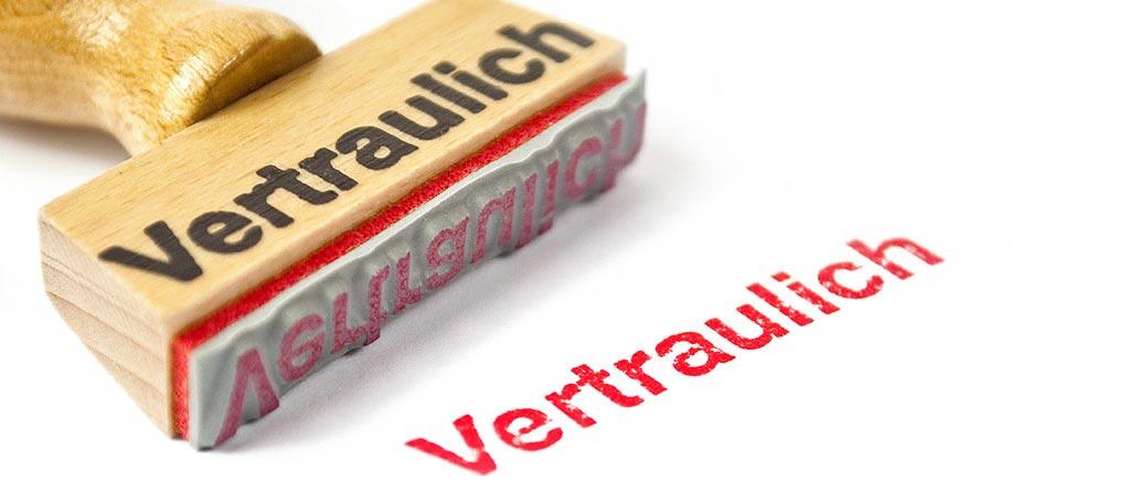 Beamtenrecht - Stempel Vetraulich