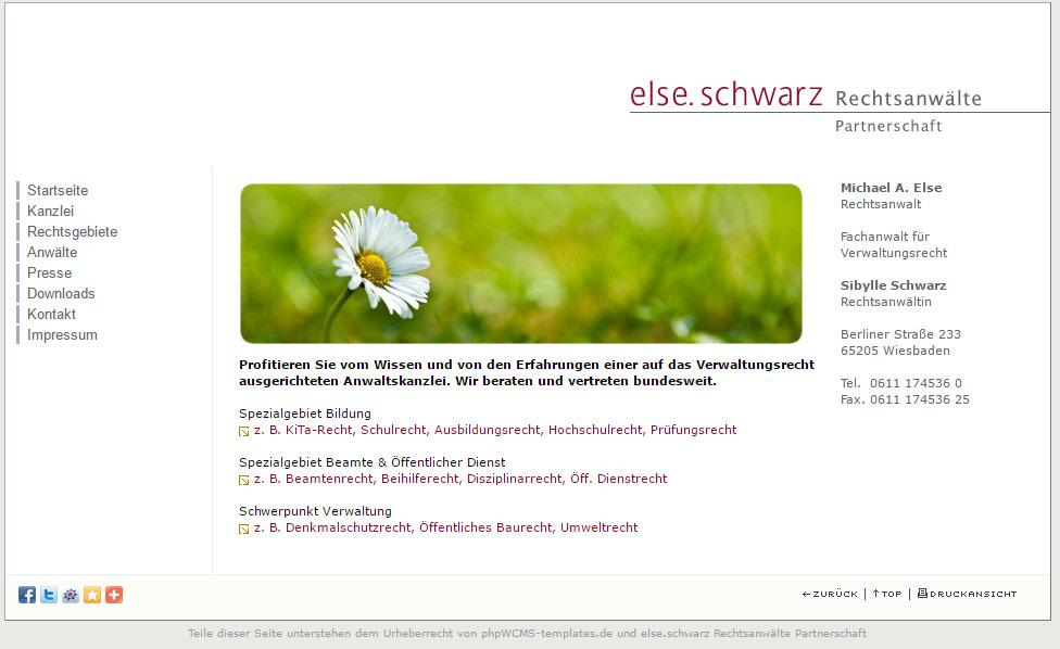 Webseite else.schwarz 2010