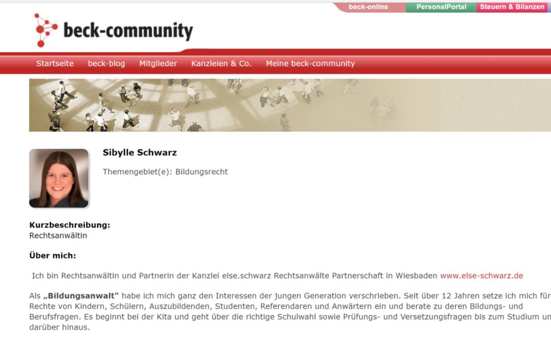 Blog Bildungsrecht im C.H. Beck Verlag