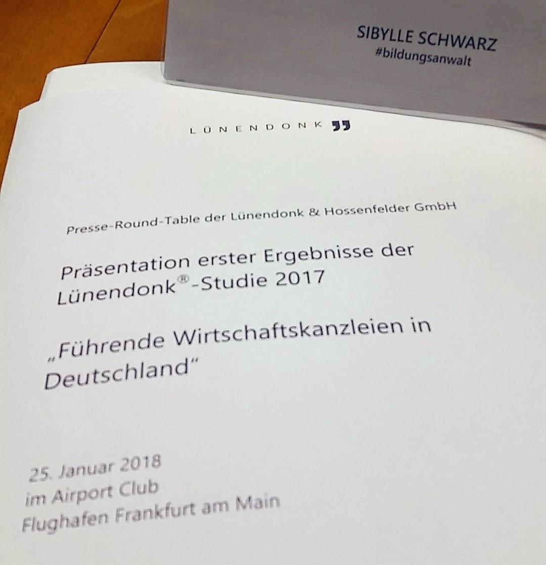 Vorblatt Lünendonk-Studie 2017, Pressegespräch